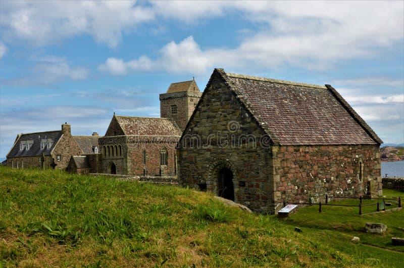 Marcos históricos escoceses - capela do St Orans fotografia de stock