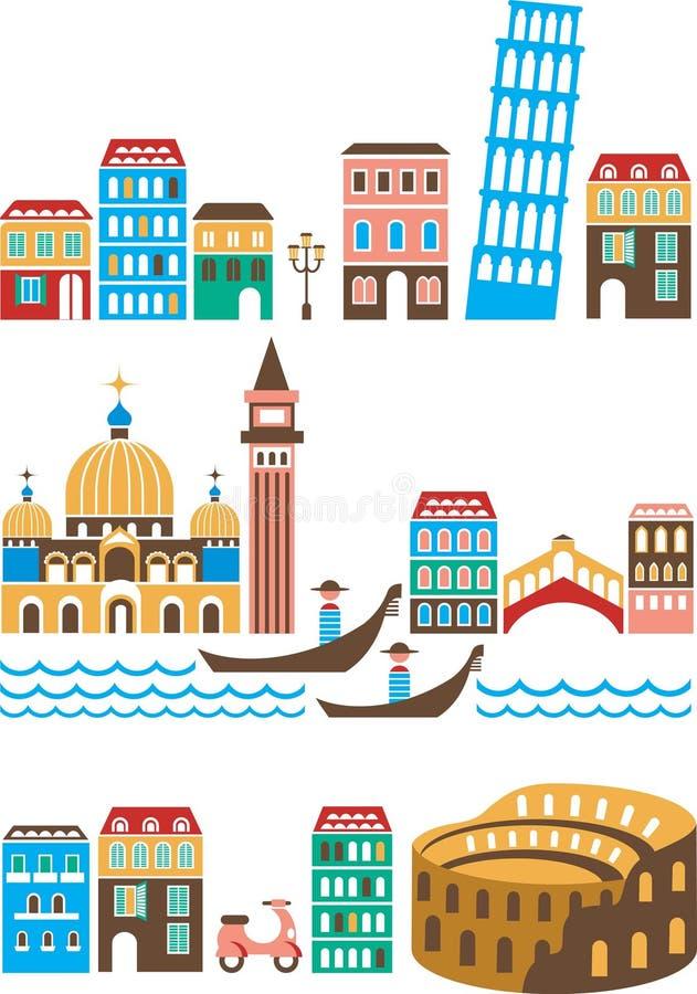 Marcos italianos ilustração stock