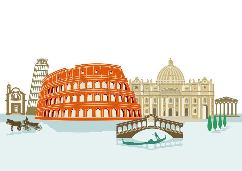 Marcos italianos ilustração do vetor