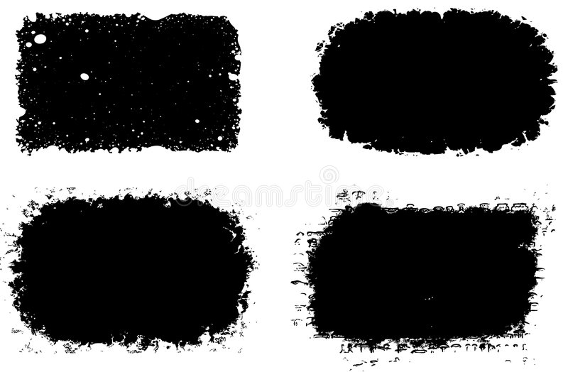 marcos negros stock de ilustración