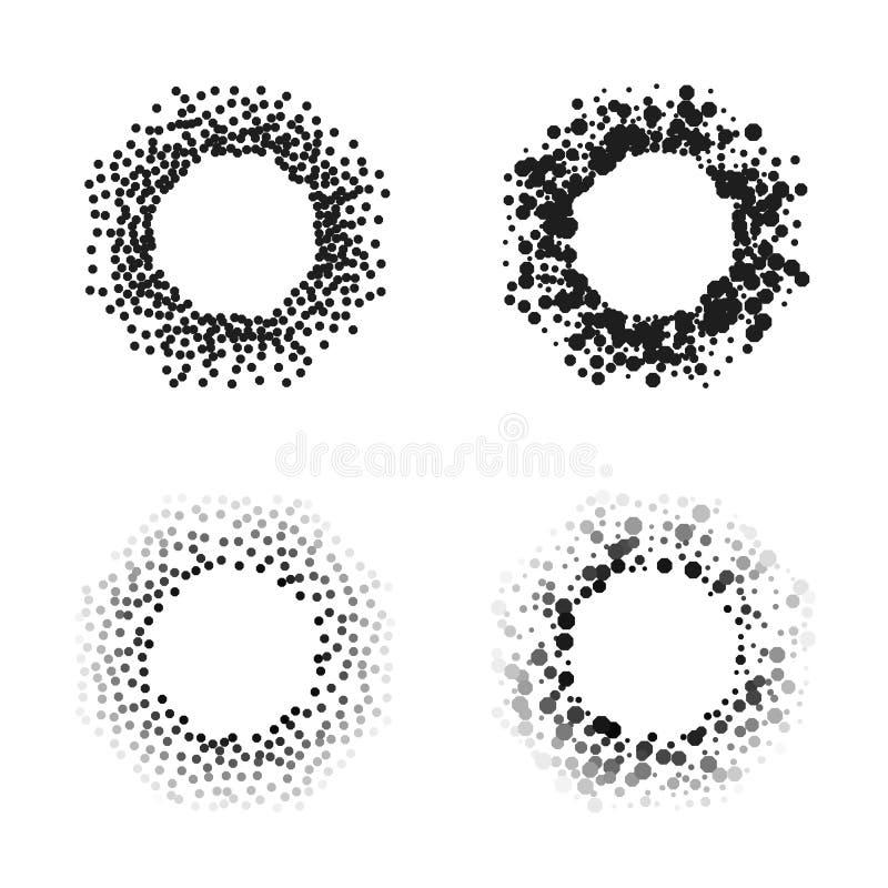 Marcos negros del octágono del color aislados en el fondo blanco con el espacio para su texto Fondos creativos para las etiquetas stock de ilustración