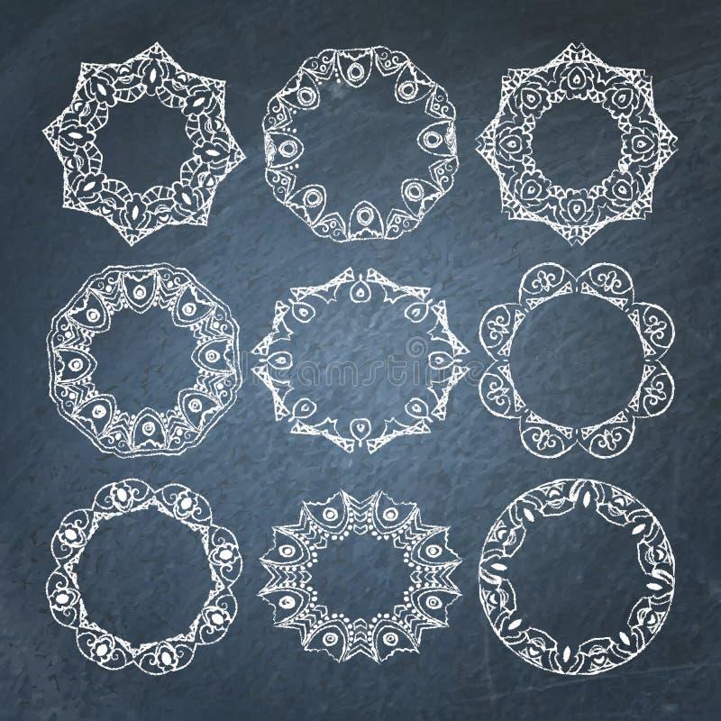 Marcos ornamentales de la pizarra fijados libre illustration