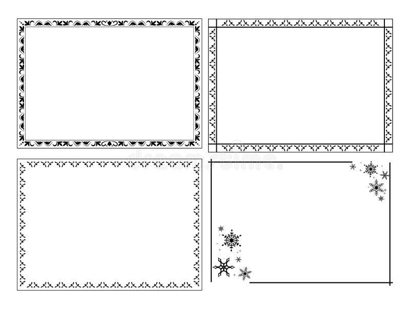 Marcos Ornamentales Decorativos - Sistema Ilustración del Vector ...