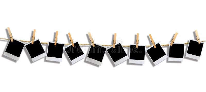 Marcos polaroid con la sombra de la gota imágenes de archivo libres de regalías