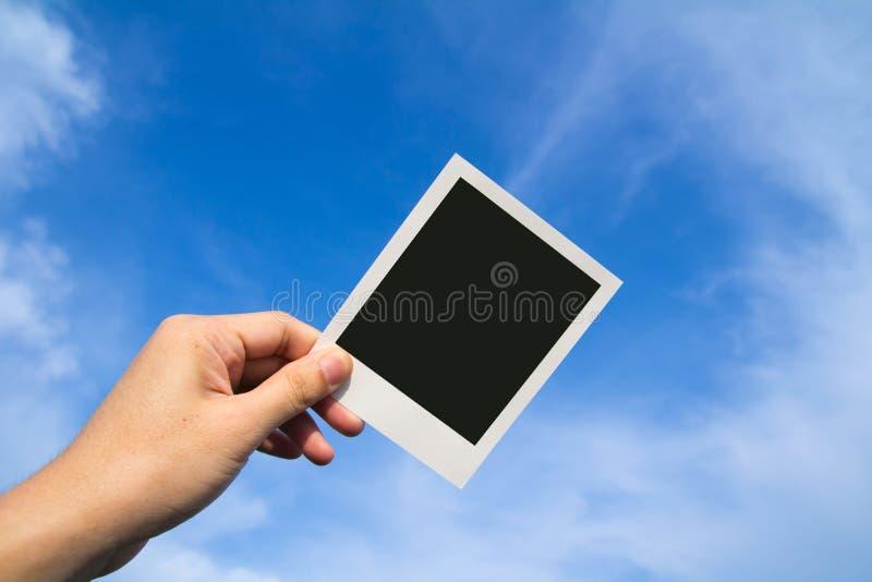 Marcos polaroid de la foto imagenes de archivo