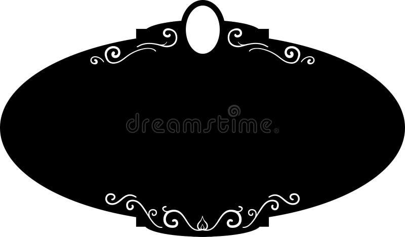 Marcos redondos negros del vintage, elementos del diseño Mano del bosquejo dibujada Frontera decorativa ilustración del vector