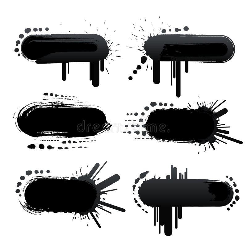Marcos retros del grunge stock de ilustración