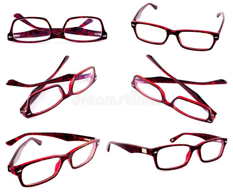 Marcos rojos de las lentes imagenes de archivo