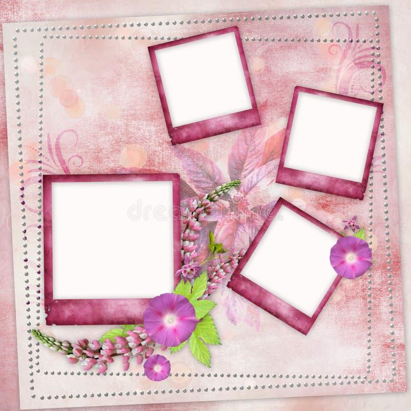 Marcos rosados para la foto libre illustration