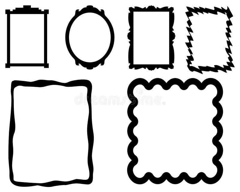 Marcos simples de la foto ilustración del vector