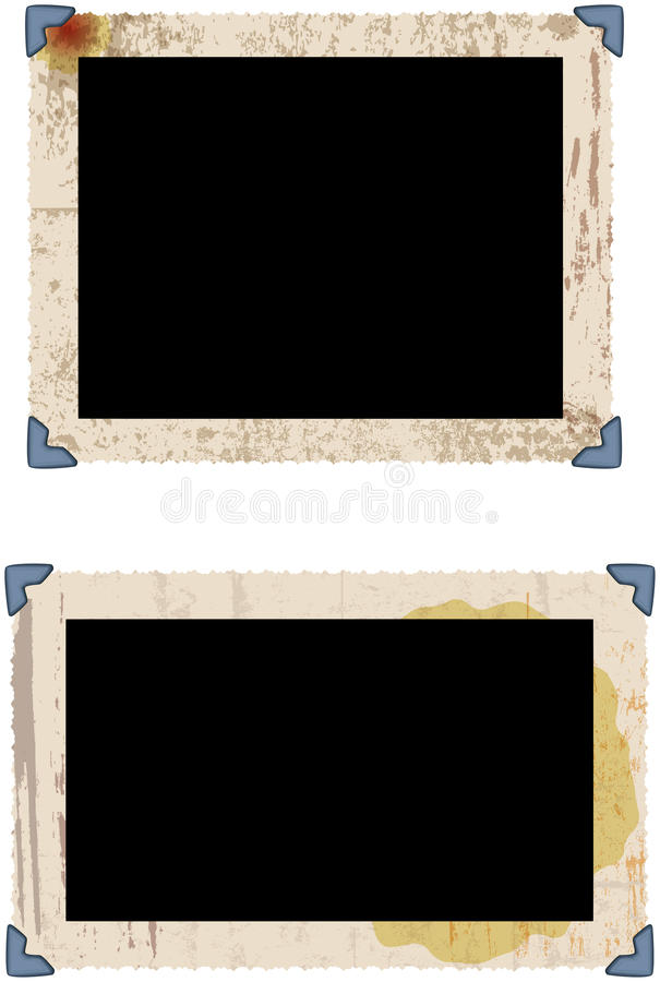 Marcos sucios de la foto stock de ilustración