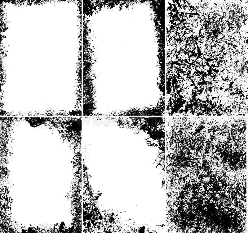 Marcos sucios del vector ilustración del vector