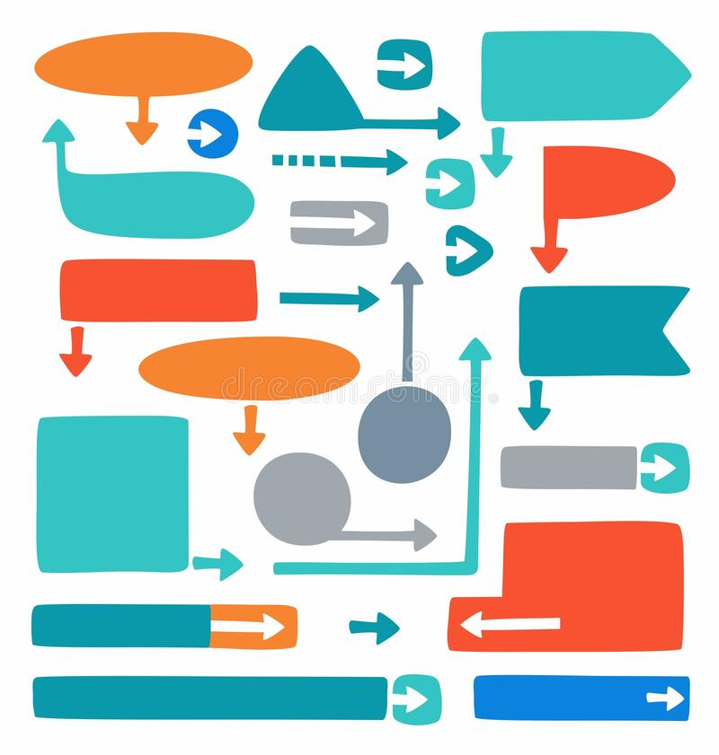 Marcos Y Flechas Coloreados Para El Infographics Y Los Diagramas ...