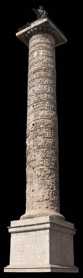 Marcus Aurelius column Rome, Italy royalty free stock image