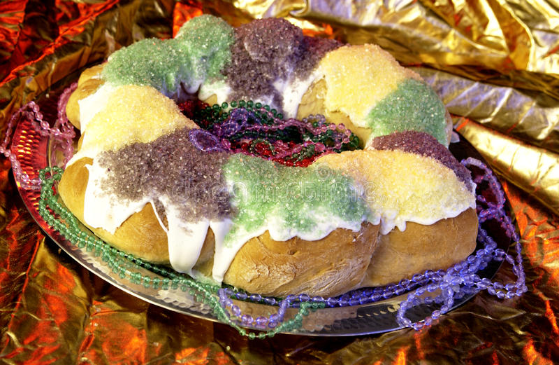 mardi βασιλιάδων gras κέικ στοκ φωτογραφία