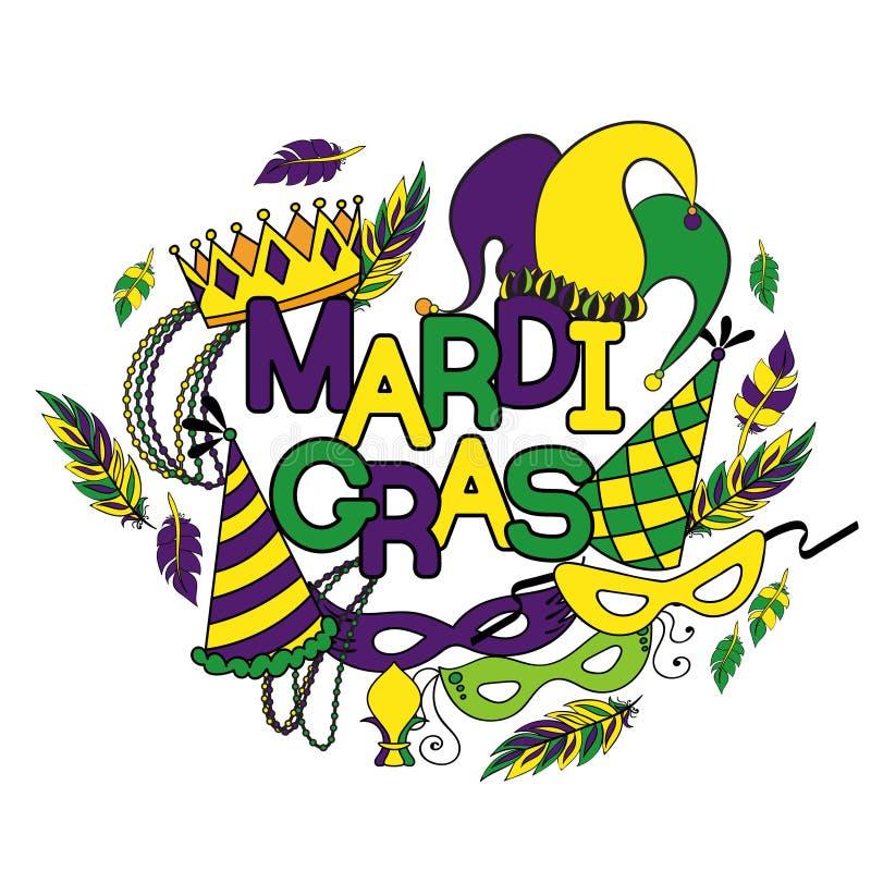 Mardi Gras ή Τρίτη Shrove απεικόνιση αποθεμάτων