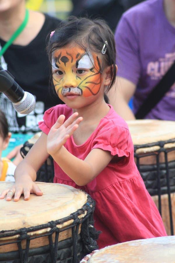 Mardi Gras Arts en el evento del parque en Hong Kong 2015 fotos de archivo libres de regalías