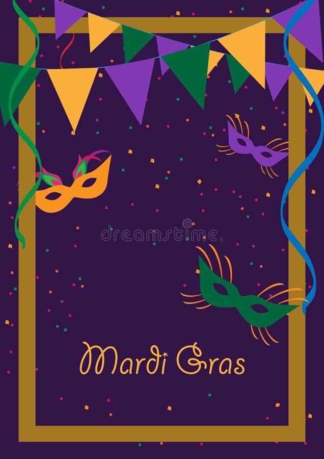 Mardi gras royalty free illustration