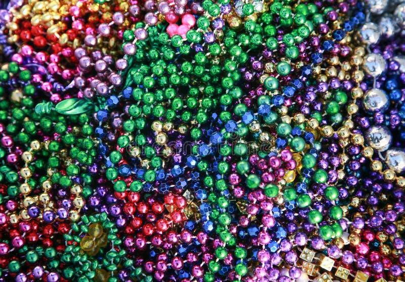Mardi Gras Beads royalty free stock photo