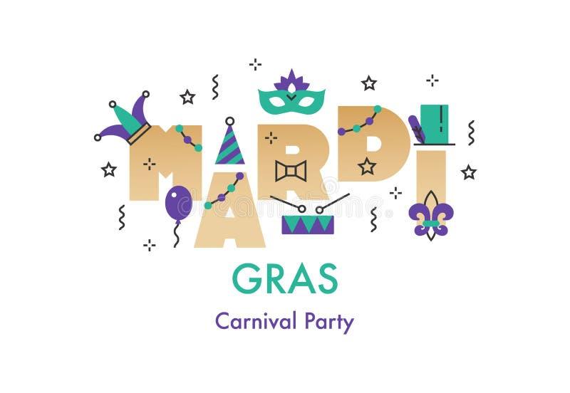 Mardi Gras berömkort arkivfoto