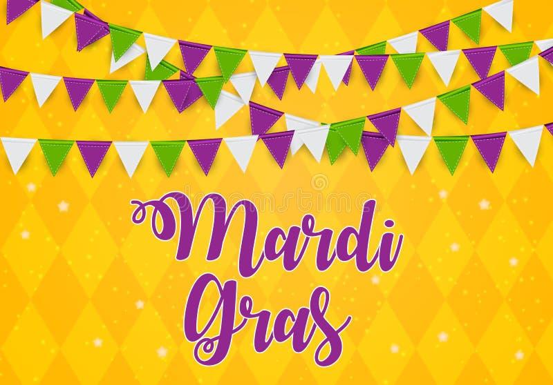 Mardi Gras Brochure Template Cartão Backround da celebração Ilustração de Vecor ilustração do vetor
