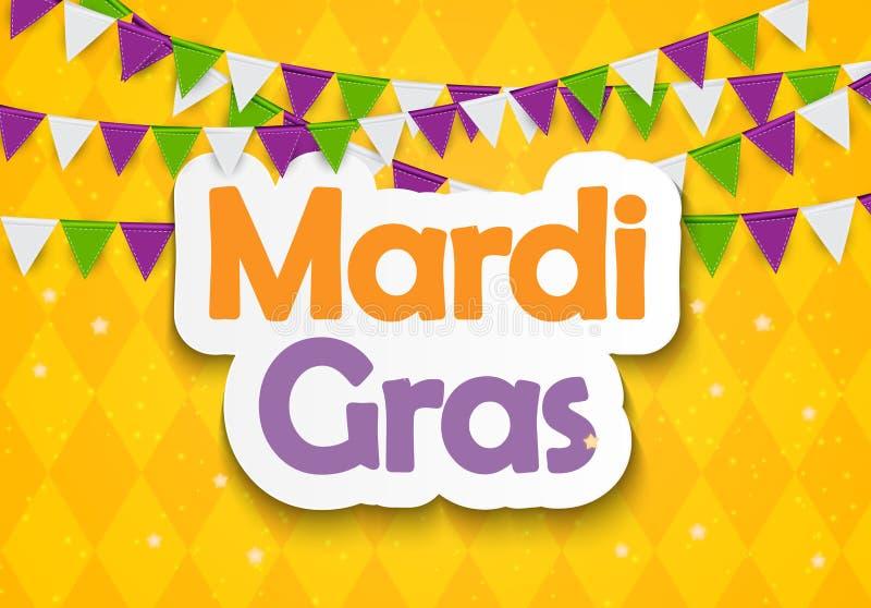 Mardi Gras Brochure Template Cartão da celebração ilustração do vetor
