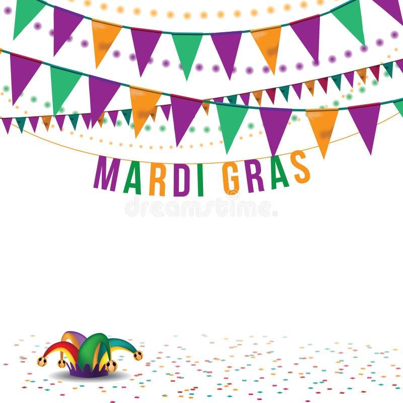 Mardi Gras-bunting achtergrondeps 10 vector royalty-vrije illustratie