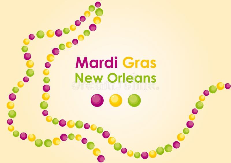 Mardi Gras - carnaval enmascarado en New Orleans stock de ilustración