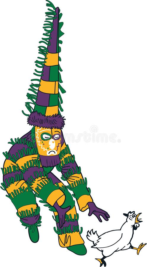 Mardi Gras Chicken Chaser libre illustration