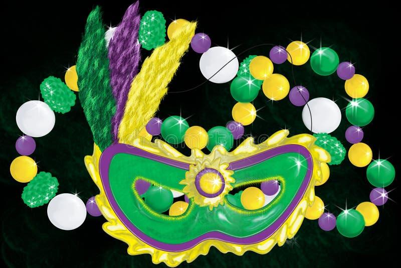 Mardi Gras Collage Stock Image