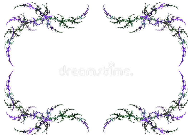Mardi Gras Colored Fractal Frame With White Copy S royalty free stock photo