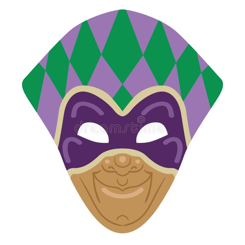 Mardi gras mask Hand drawn, Vector, Eps, Logo, Icon, crafteroks, silhouette Illustration for different uses stock illustration