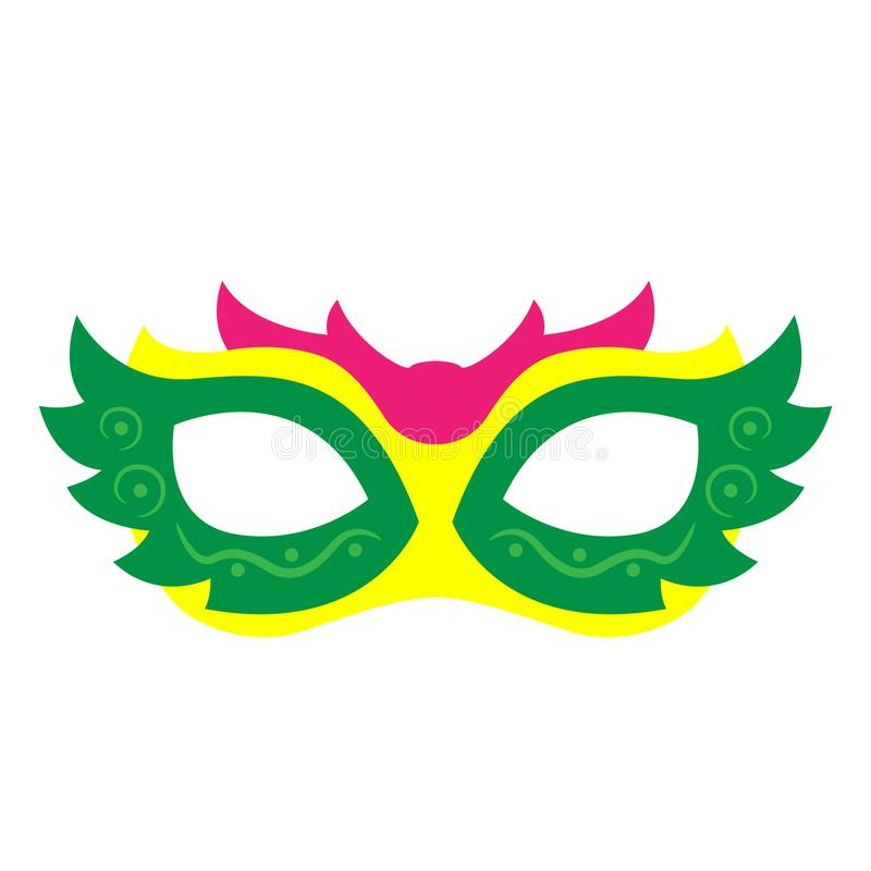 Mardi gras mask Hand drawn, Vector, Eps, Logo, Icon, crafteroks, silhouette Illustration for different uses vector illustration