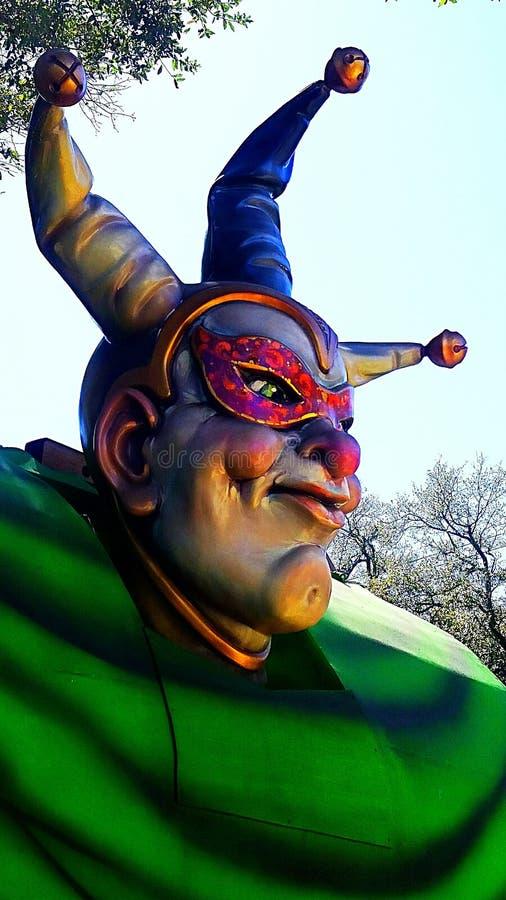 Mardi Gras Float jester stock photo