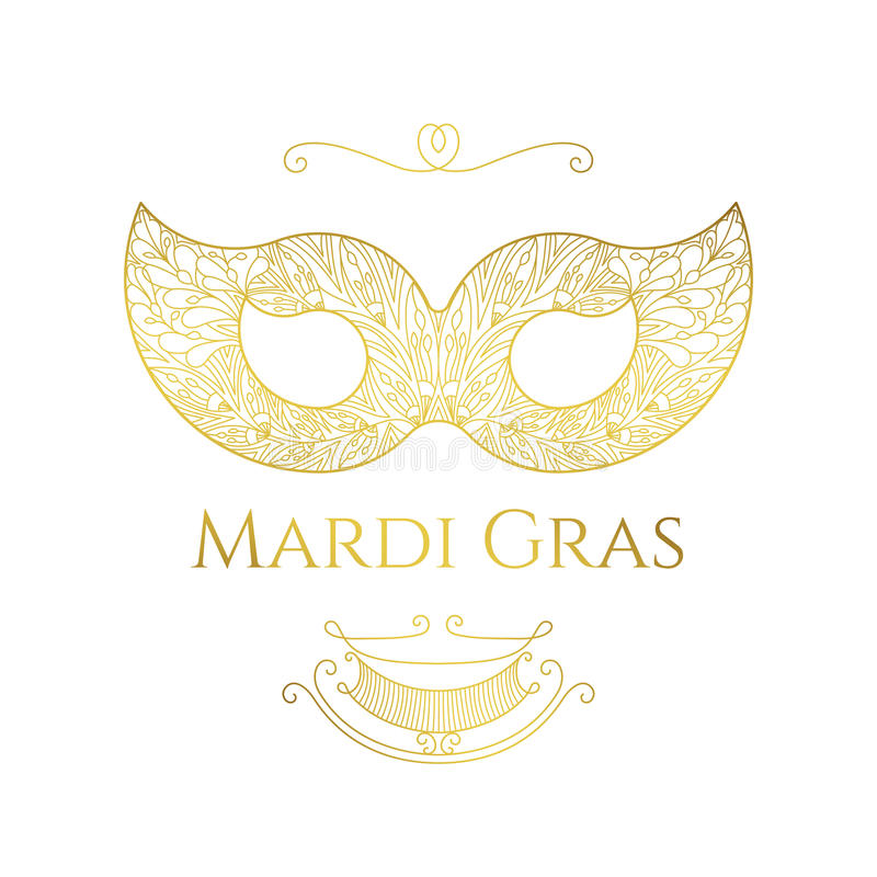 Download Mardi Gras greeting card stock vector. Image of classical - 88266400
