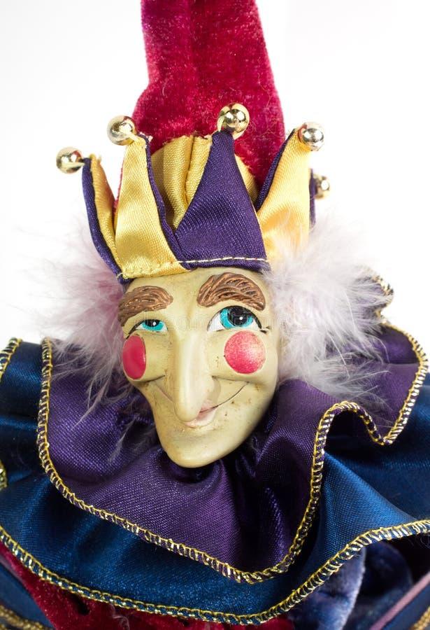 Mardi Gras Jack in the Box Clown royalty free stock photos