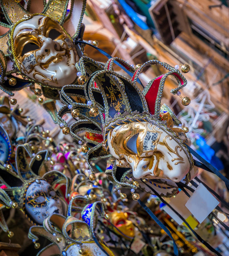 Mardi Gras karnevalmaskeringar royaltyfri fotografi