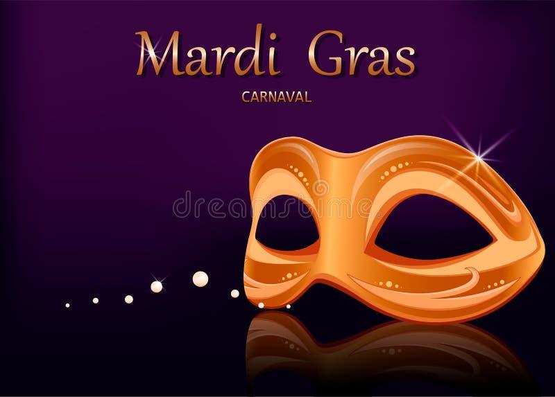 Mardi Gras-Karnevalsmaske glückliches neues Jahr 2007 stock abbildung