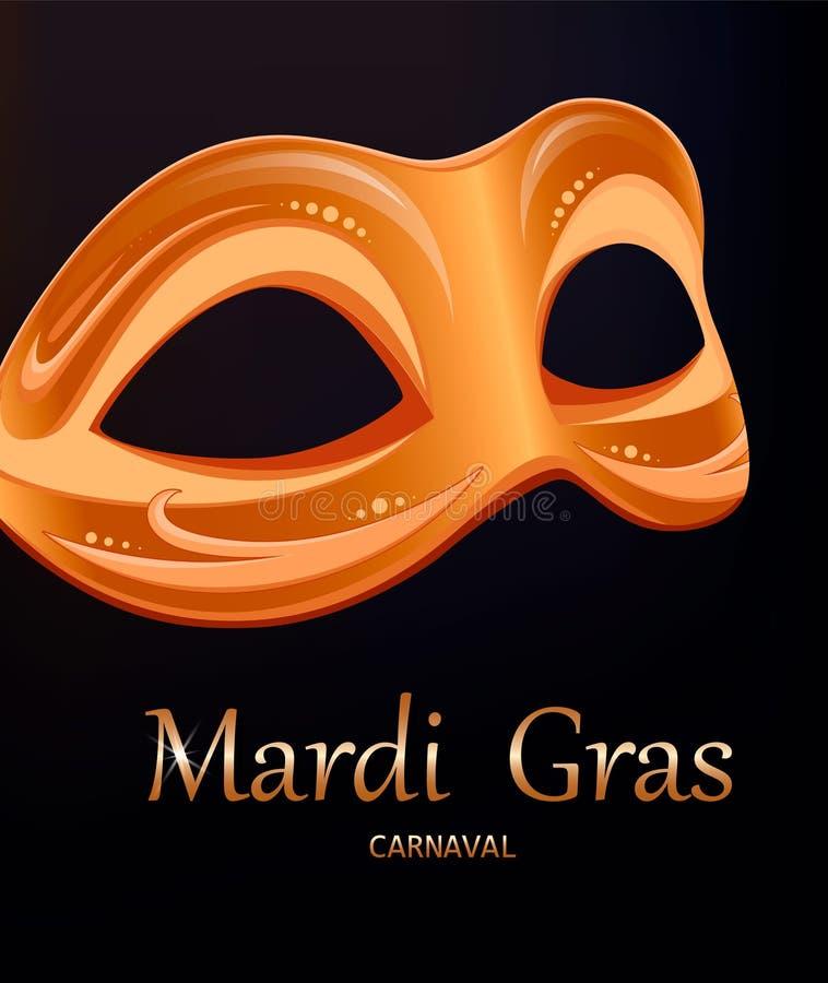 Mardi Gras-Karnevalsmaske glückliches neues Jahr 2007 vektor abbildung