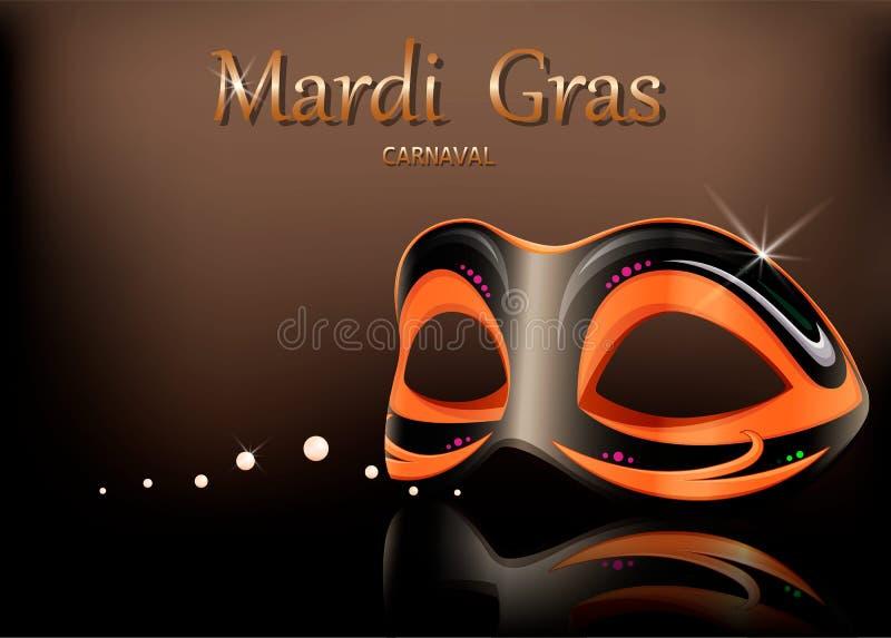 Mardi Gras-Karnevalsmaske glückliches neues Jahr 2007 lizenzfreie abbildung