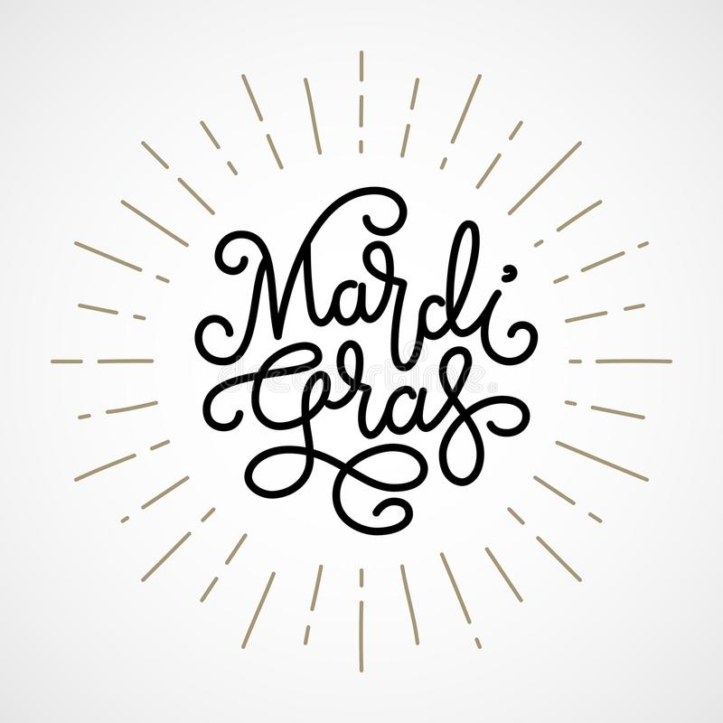 Mardi Gras Lettering vector illustratie