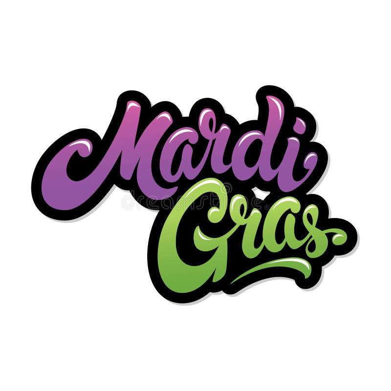 Mardi Gras Lettering royalty free illustration