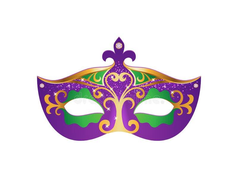 Mardi Gras Mask illustrazione di stock