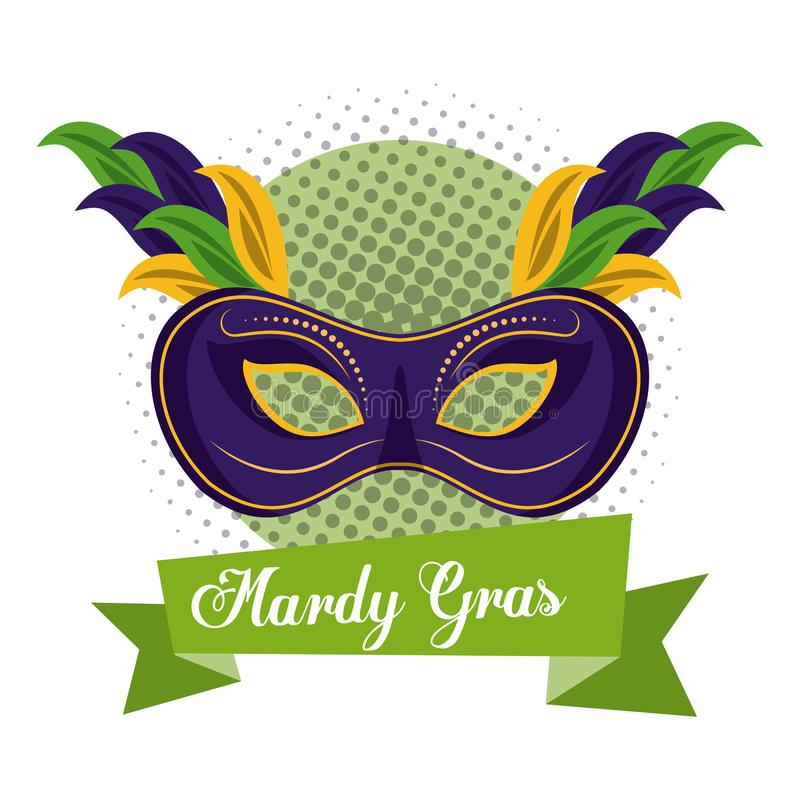 Mardi Gras Mask illustration de vecteur