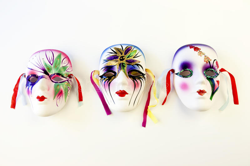 Mardi gras mask. S over a white background stock photography