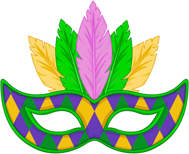 Mardi Gras Mask illustrazione di stock