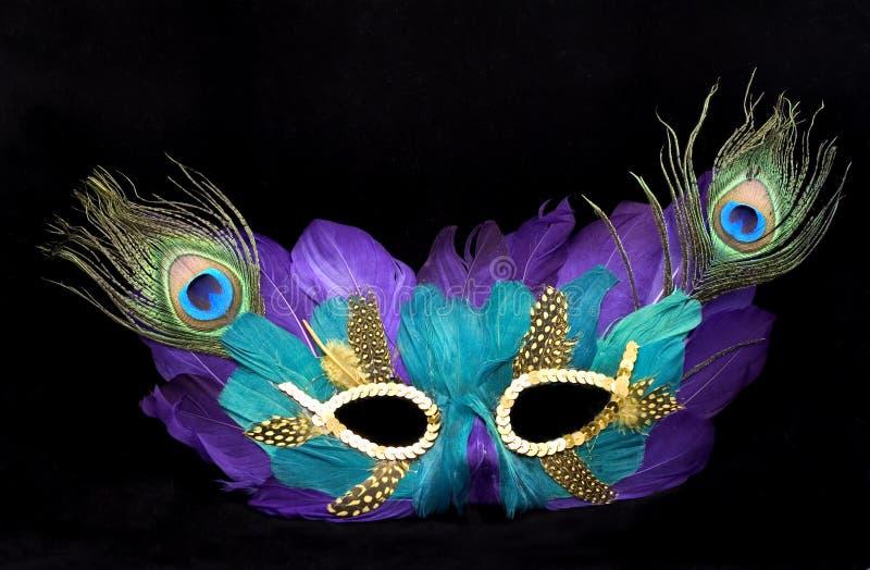 Mardi gras mask. On black