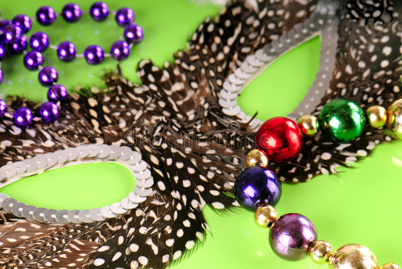Download Mardi Gras mask and beads stock image. Image of mask, seasonal - 7964587