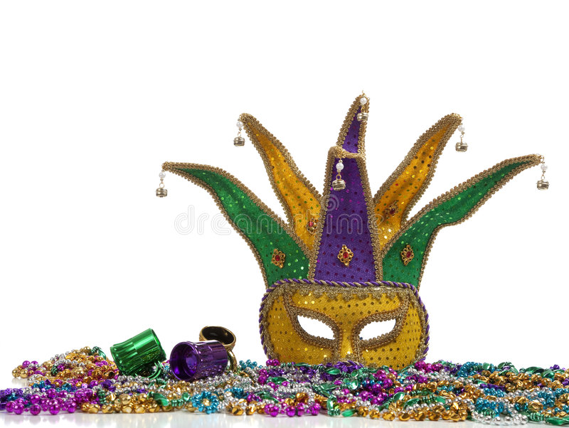 Download Mardi Gras Mask and Beads stock photo. Image of louisiana - 8208032