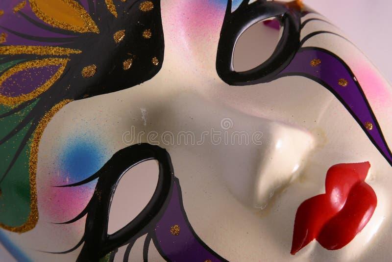 Mardi Gras Mask Closeup. Closeup of a Mardi Gras mask on an angle to the camera. Part of a series royalty free stock photos